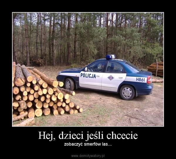 Hej, dzieci jeśli chcecie – zobaczyć smerfów las...