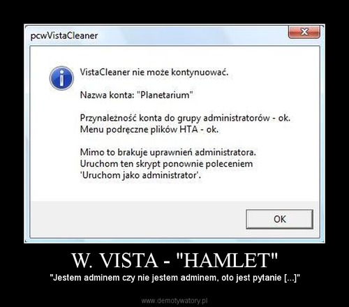 "W. VISTA - ""HAMLET"""