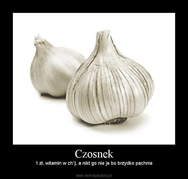 Czosnek – 1 zł, witamin w ch*j, a nikt go nie je bo brzydko pachnie