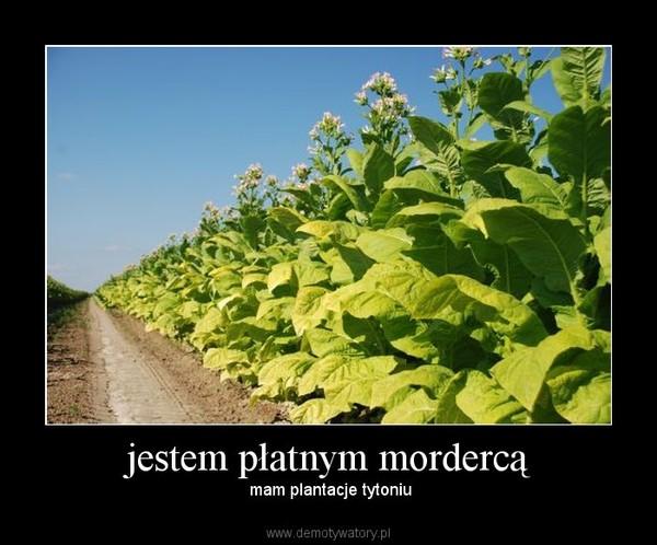 jestem płatnym mordercą –  mam plantacje tytoniu