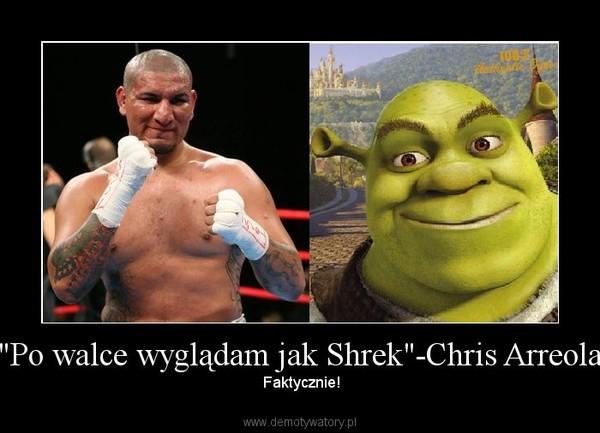 """""""Po walce wyglądam jak Shrek""""-Chris Arreola –  Faktycznie!"""