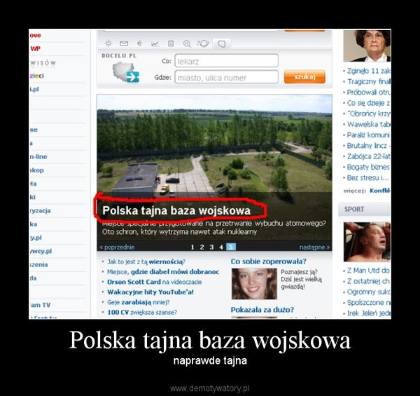 Polska tajna baza wojskowa – naprawde tajna