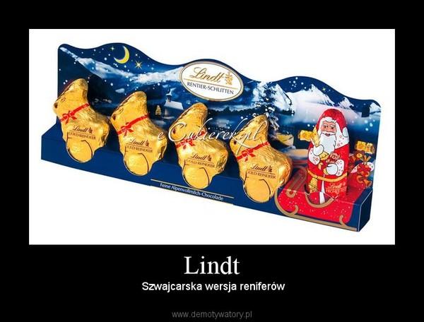 Lindt –  Szwajcarska wersja reniferów
