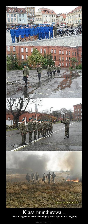 Klasa mundurowa... – I zwykłe zajęcia lekcyjne zmieniają się w niezapomnianą przygodę