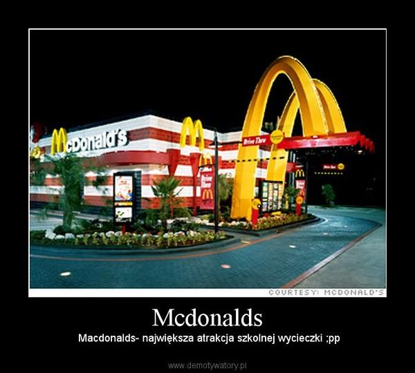 Mcdonalds – Macdonalds- największa atrakcja szkolnej wycieczki ;pp