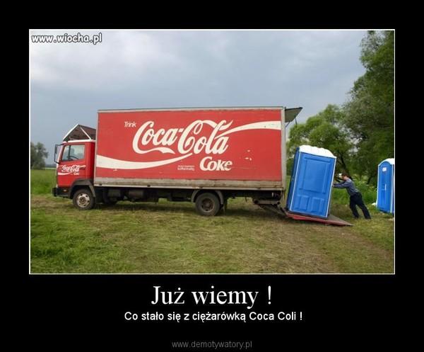 Już wiemy ! – Co stało się z ciężarówką Coca Coli !