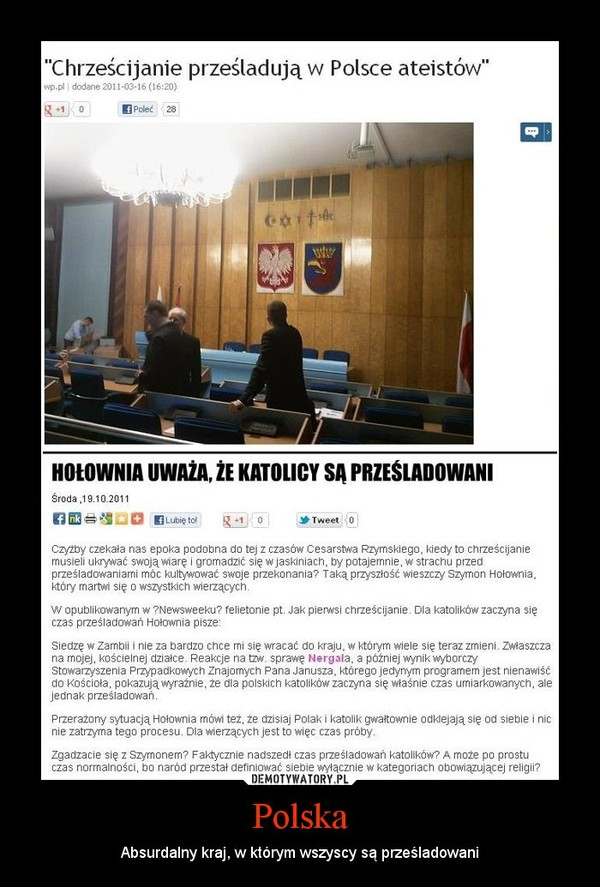 Polska – Absurdalny kraj, w którym wszyscy są prześladowani