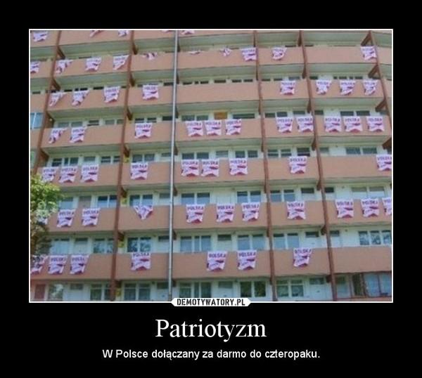 Patriotyzm – W Polsce dołączany za darmo do czteropaku.