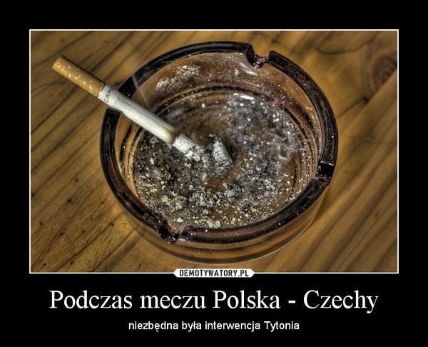 Podczas meczu Polska - Czechy – niezbędna była interwencja Tytonia