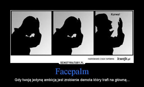 Facepalm – Gdy twoją jedyną ambicją jest zrobienie demota który trafi na główną...
