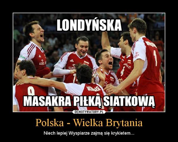 Polska - Wielka Brytania – Niech lepiej Wyspiarze zajmą się krykietem...