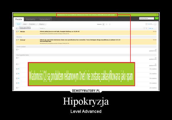 Hipokryzja – Level Advanced