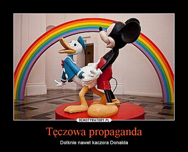 Tęczowa propaganda – Dotknie nawet kaczora Donalda