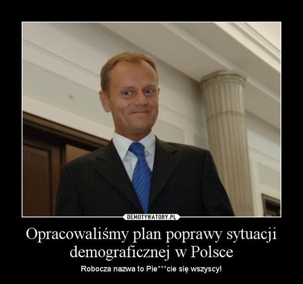 Opracowaliśmy plan poprawy sytuacji demograficznej w Polsce – Robocza nazwa to Pie***cie się wszyscy!