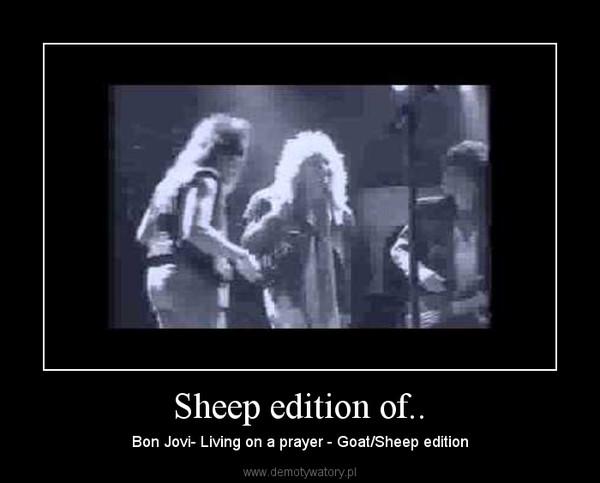 Sheep edition of.. – Bon Jovi- Living on a prayer - Goat/Sheep edition