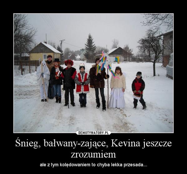 Śnieg, bałwany-zające, Kevina jeszcze zrozumiem – ale z tym kolędowaniem to chyba lekka przesada...