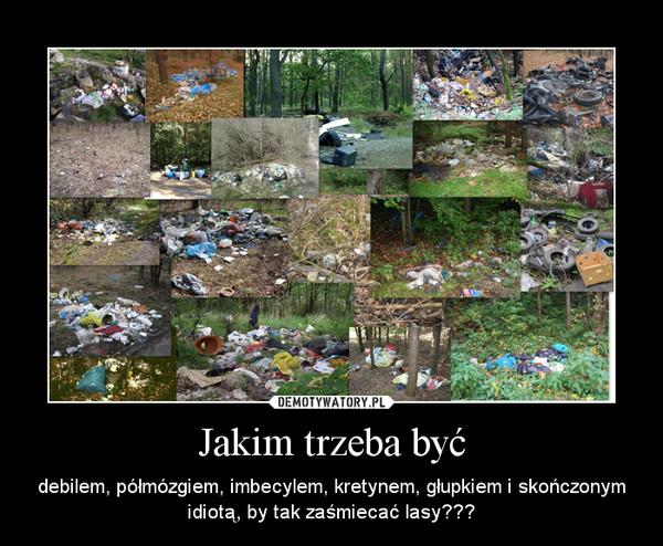 Jakim trzeba być – debilem, półmózgiem, imbecylem, kretynem, głupkiem i skończonym idiotą, by tak zaśmiecać lasy???