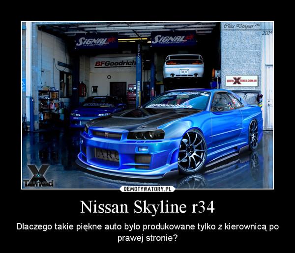 Nissan Skyline r34 – Dlaczego takie piękne auto było produkowane tylko z kierownicą po prawej stronie?
