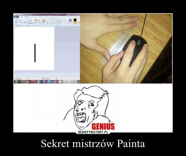 Sekret mistrzów Painta –