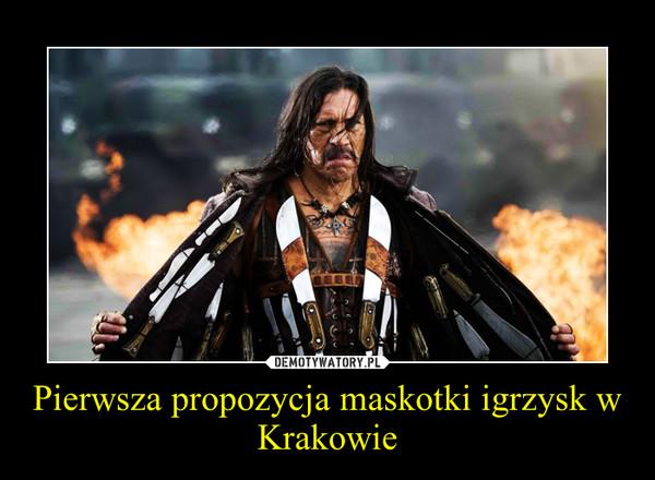 Pierwsza propozycja maskotki igrzysk w Krakowie –