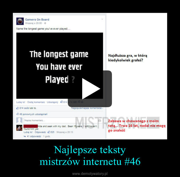 Najlepsze tekstymistrzów internetu #46 –