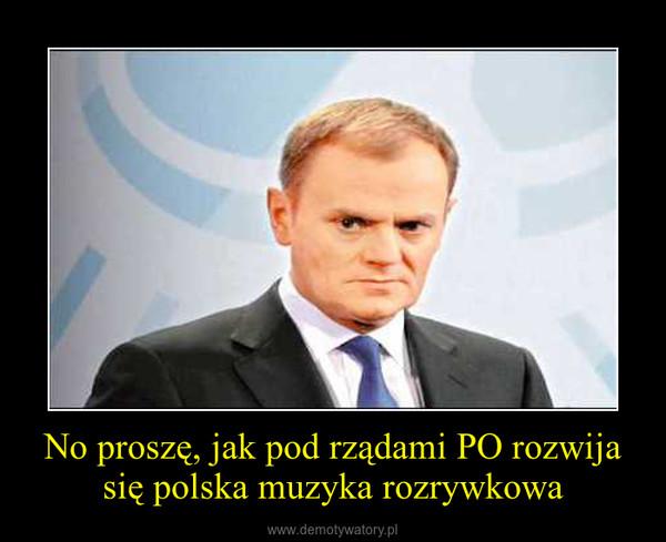 No proszę, jak pod rządami PO rozwija się polska muzyka rozrywkowa –