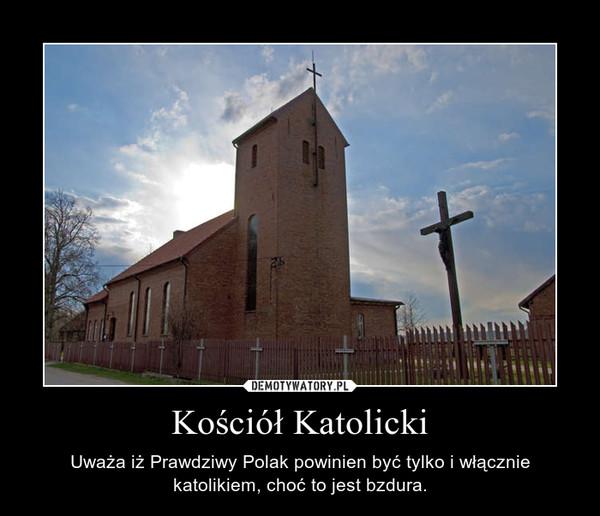 Kościół Katolicki – Uważa iż Prawdziwy Polak powinien być tylko i włącznie katolikiem, choć to jest bzdura.