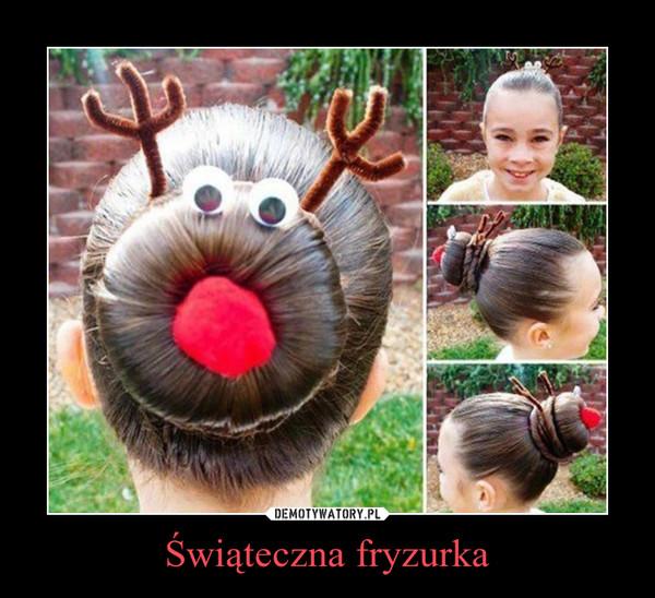 Świąteczna fryzurka –