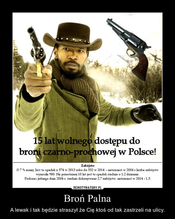 Broń Palna – A lewak i tak będzie straszył że Cię ktoś od tak zastrzeli na ulicy.