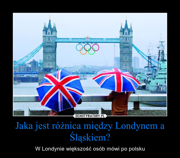 Jaka jest różnica między Londynem a Śląskiem? – W Londynie większość osób mówi po polsku