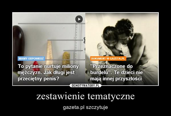 zestawienie tematyczne – gazeta.pl szczytuje