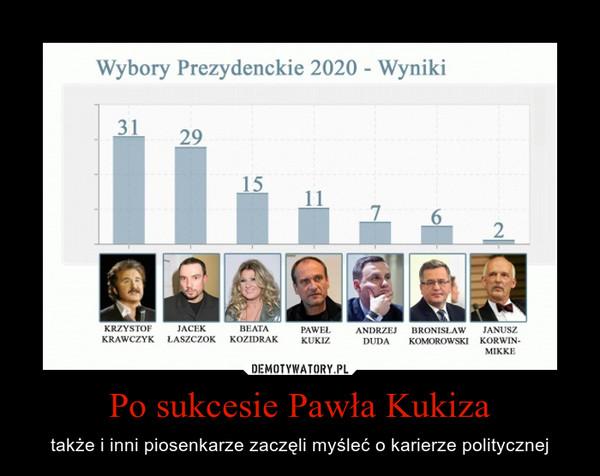 Po sukcesie Pawła Kukiza – także i inni piosenkarze zaczęli myśleć o karierze politycznej