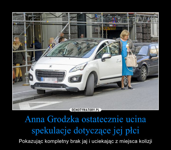 Anna Grodzka ostatecznie ucina spekulacje dotyczące jej płci – Pokazując kompletny brak jaj i uciekając z miejsca kolizji