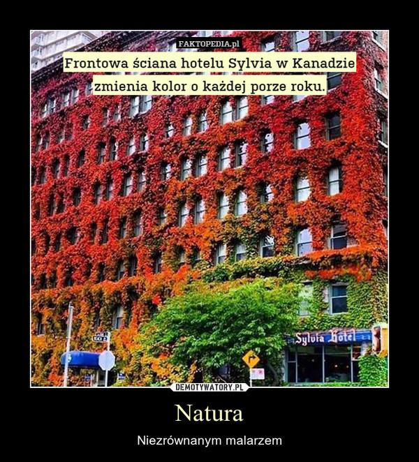 Natura – Niezrównanym malarzem Frontowa ściana hotelu Sylvia w Kanadzie zmienia kolor o każdej porze roku.