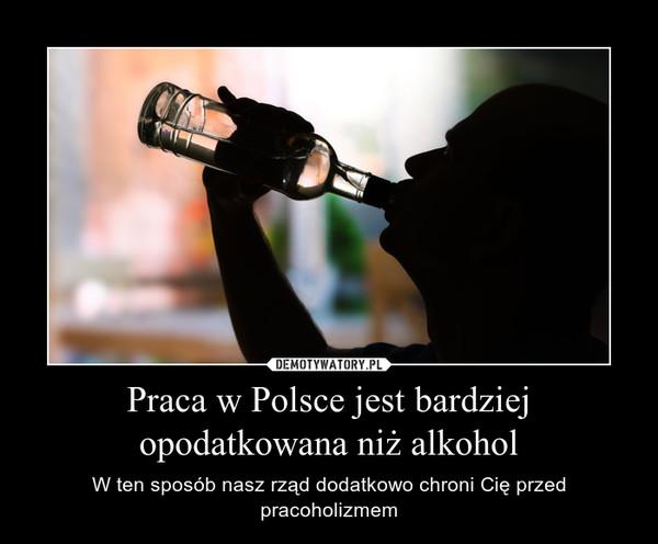 Praca w Polsce jest bardziej opodatkowana niż alkohol – W ten sposób nasz rząd dodatkowo chroni Cię przed pracoholizmem