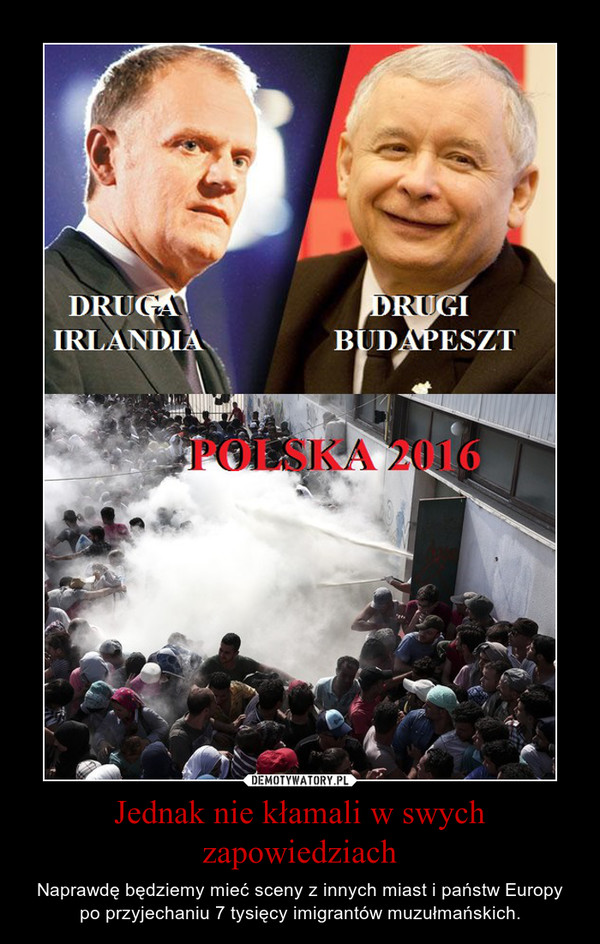 Jednak nie kłamali w swych zapowiedziach – Naprawdę będziemy mieć sceny z innych miast i państw Europy po przyjechaniu 7 tysięcy imigrantów muzułmańskich.