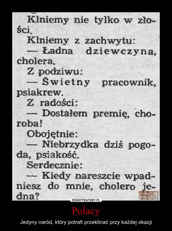 Polacy – Jedyny naród, który potrafi przeklinać przy każdej okazji