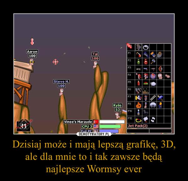 Dzisiaj może i mają lepszą grafikę, 3D, ale dla mnie to i tak zawsze będą najlepsze Wormsy ever –