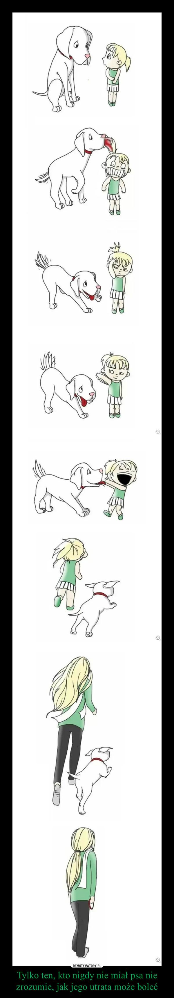 Tylko ten, kto nigdy nie miał psa nie zrozumie, jak jego utrata może boleć –