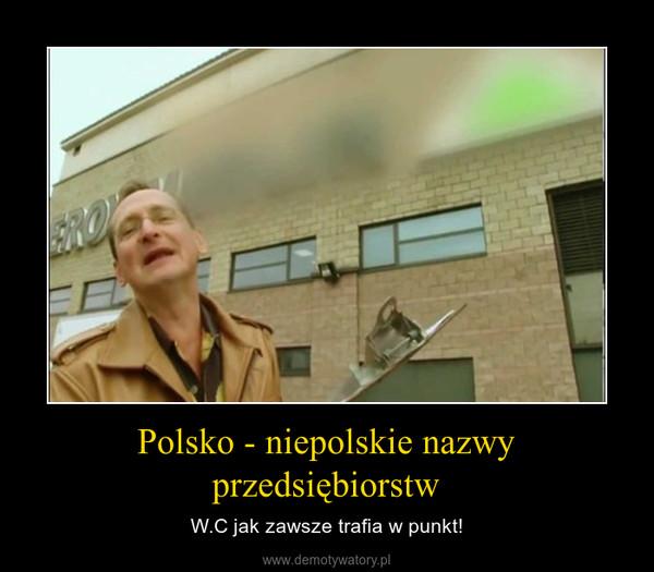 Polsko - niepolskie nazwy przedsiębiorstw – W.C jak zawsze trafia w punkt!