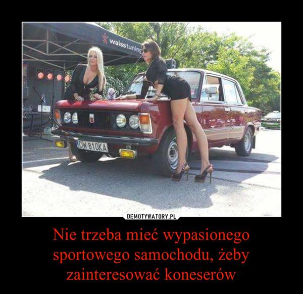 Nie trzeba mieć wypasionego sportowego samochodu, żeby zainteresować koneserów –