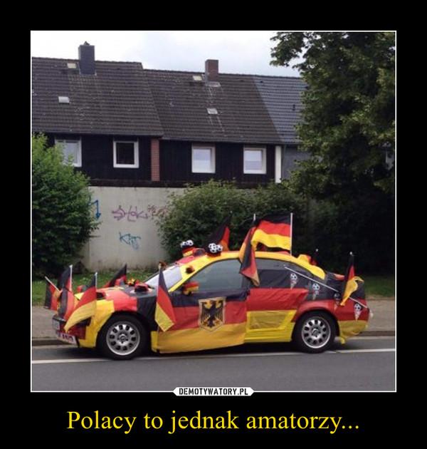 Polacy to jednak amatorzy... –