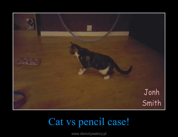 Cat vs pencil case! –