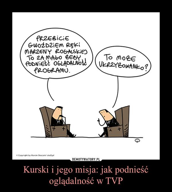 Kurski i jego misja: jak podnieść oglądalność w TVP –