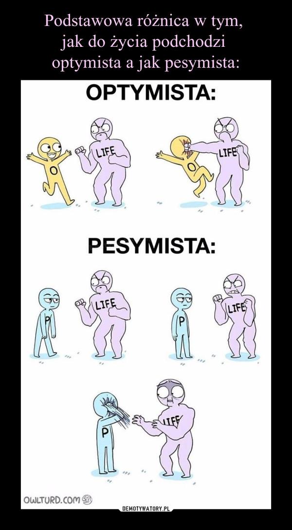 –  OPTYMISTA:PESYMISTA: