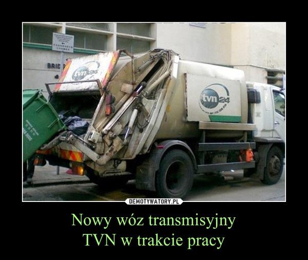 Nowy wóz transmisyjnyTVN w trakcie pracy –