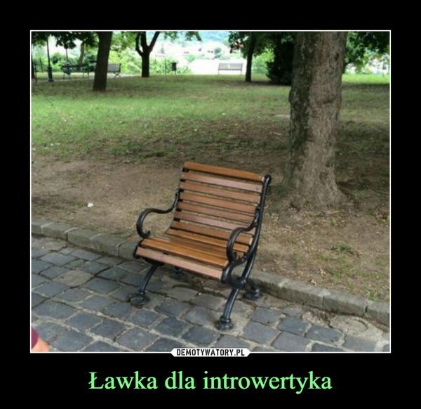 Ławka dla introwertyka –