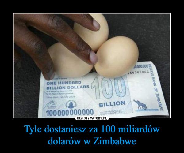 Tyle dostaniesz za 100 miliardów dolarów w Zimbabwe –