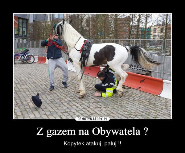 Z gazem na Obywatela ? – Kopytek atakuj, pałuj !!