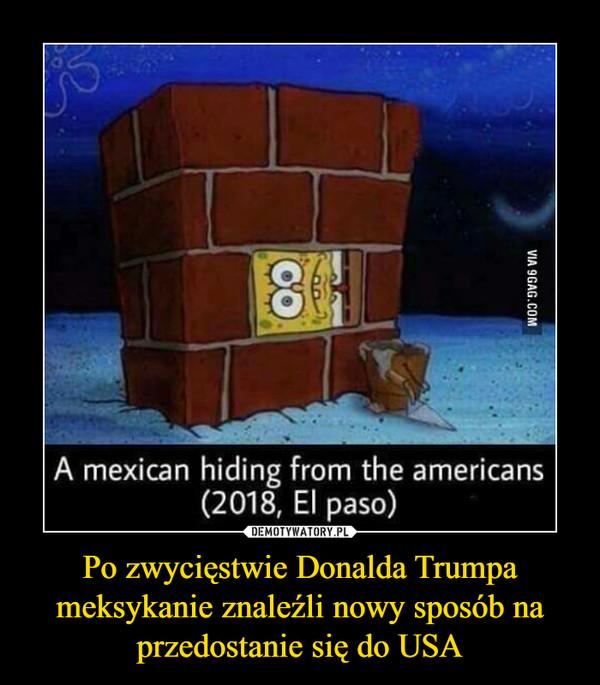 Po zwycięstwie Donalda Trumpa meksykanie znaleźli nowy sposób na przedostanie się do USA –